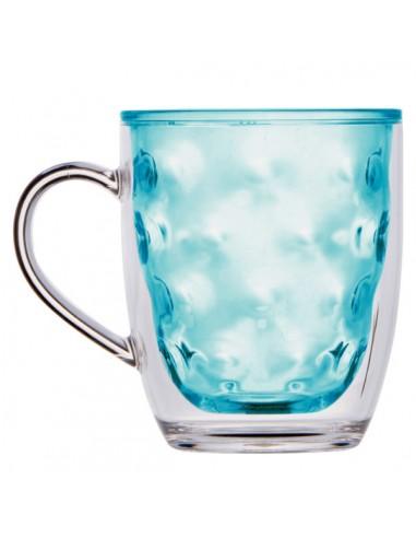 Taza térmica de doble pared para la perfecta conservación de las bebidas frías. Fabricado en MS,