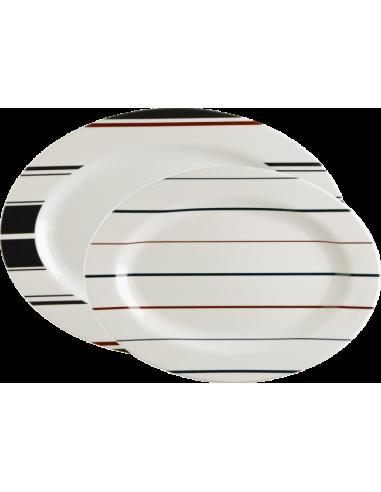 Vajilla Náutica Mónaco platos ovalados - USHIP Alicante
